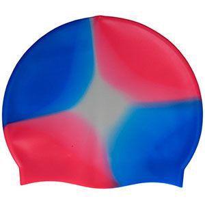 Multi-Color 100% Silicone Cap Red Blue