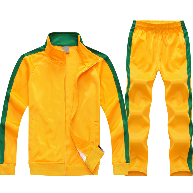 Yellow Green Stripe Swim Tracksuit Image