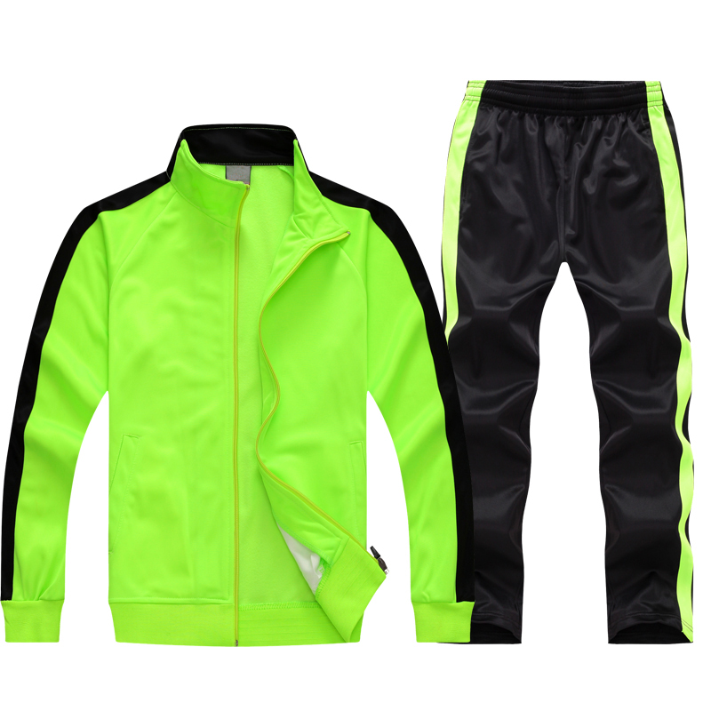 Black Lime Polyester Tracksuit Image
