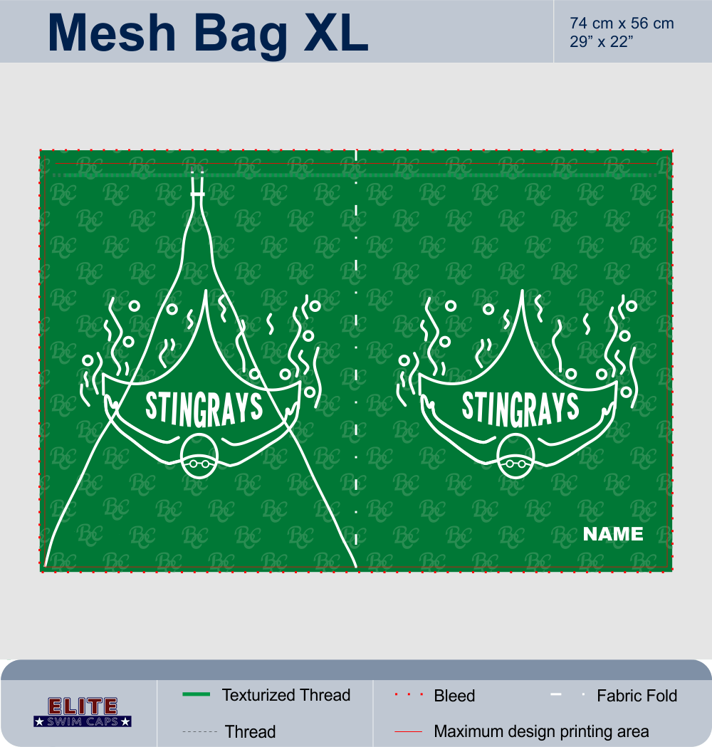 Customised Mesh Swim Bags