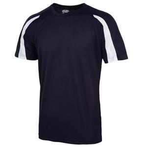 White Navy Micro Fibre T Shirt Image