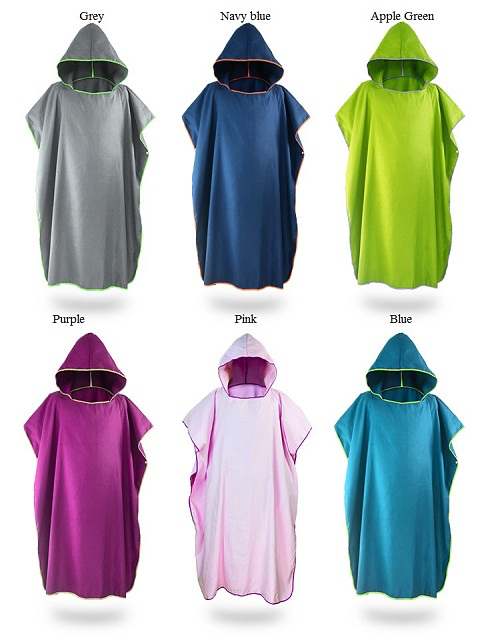 Microfibre Hoodie Towel - multiple towel colours