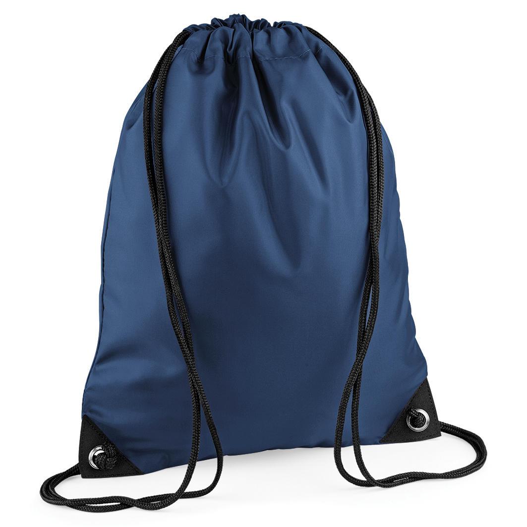 Navy Custom Printed Drawstring Bags Image