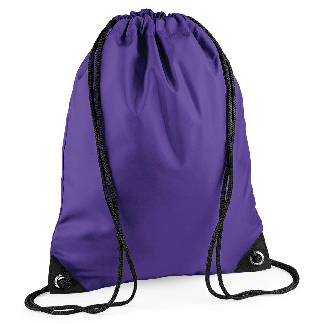 Purple Custom Printed Drawstring Bags Image