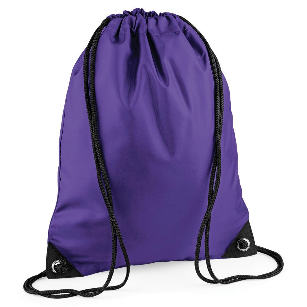 Purple Custom Printed Drawstring Bags Image