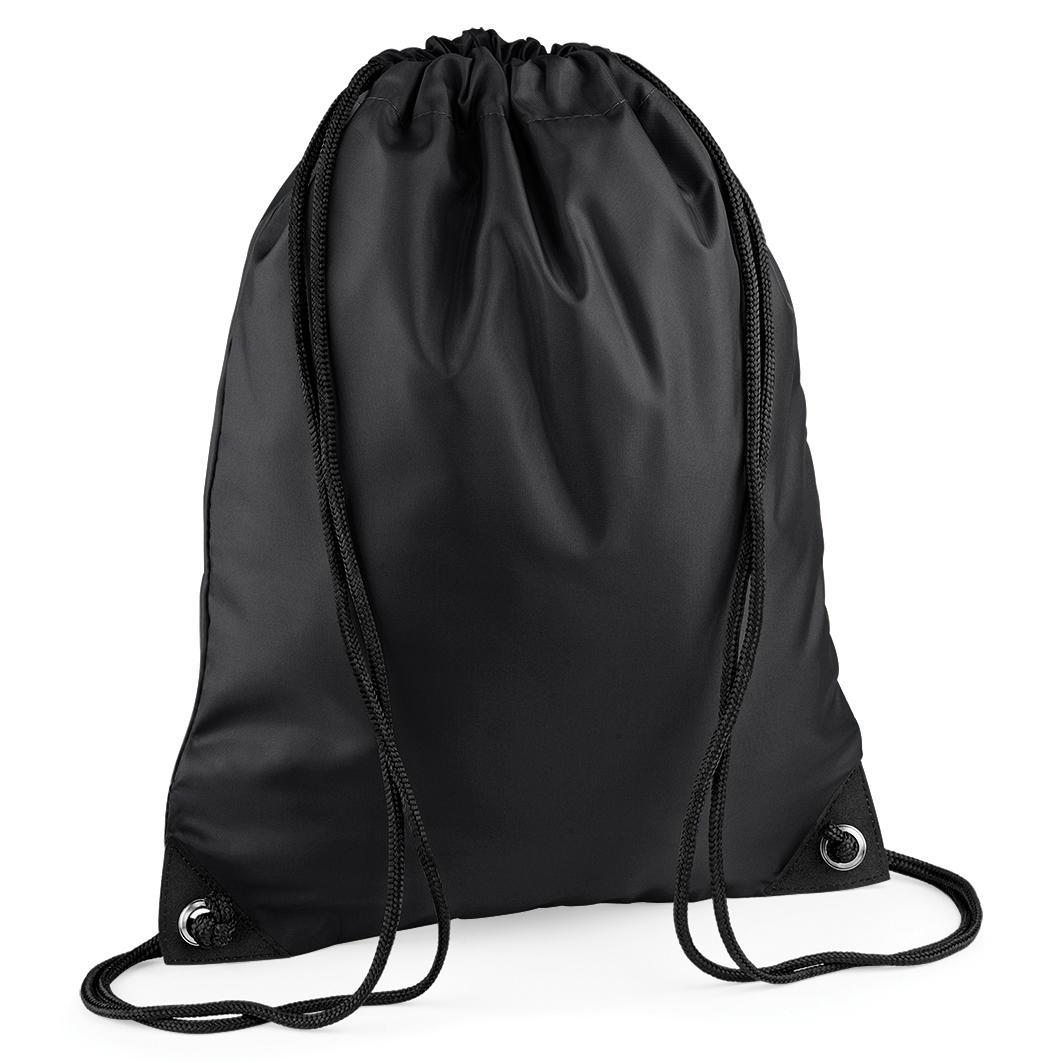 Black Custom Printed Drawstring Bags Image